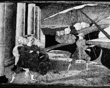 Cassonetafel mit Raub der Helena
