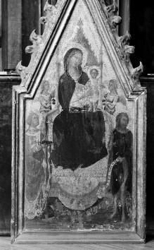 Madonna mit Kind und der Heiligen Katharina von Alexandrien, Johannes dem Täufer und Engeln