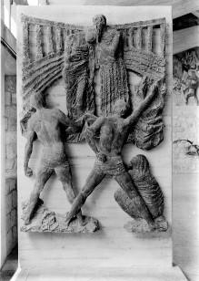Reliefserie mit Stadtpatronen italienischer Regionen — Das Martyrium der Eheleute Crysantus und Daria, Schutzheilige Reggio Emilias
