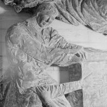 Reliefserie mit Stadtpatronen italienischer Regionen — Die Messe des heiligen Hilarius, des Schutzheiligen Piacenzas