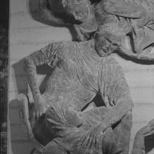 Reliefserie mit Stadtpatronen italienischer Regionen — Der Schutzheilige von Modena, der heiligen Geminianus, erweckt die Tochter Giovianos zum Leben