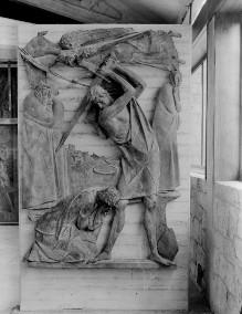 Reliefserie mit Stadtpatronen italienischer Regionen — Enthauptung des heiligen Januarius, des Schutzpatrons von Neapel