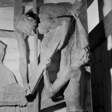 Reliefserie mit Stadtpatronen italienischer Regionen — Der heilige Petronius, Schutzpatron von Bologna