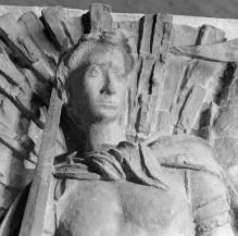 Reliefserie mit Stadtpatronen italienischer Regionen — Der Erzengel Michael, Schutzpatron von Caserta