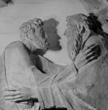 Reliefserie mit Stadtpatronen italienischer Regionen — Begegnung der Heiligen Petrus und Paulus, der Schutzpatrone Roms