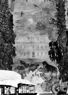 Innenausstattung — Ansicht des Palazzo Corsini alla Lungara in Rom