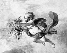 Deckenfresko mit verschiedenen Gottheiten (Vier Jahreszeiten?)