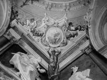 Geschichte des Herkules — Deckendekoration — Herkules und Zerberus
