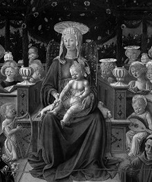 Madonna mit Kind, Heiligen und Engeln — Sacra Conversazione