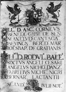 Annalen des Dezemvirats von 1553 — Namen und Wappen der Würdenträger, Folio 5verso