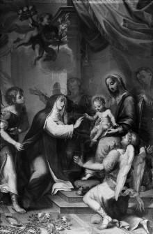 Mystische Vermählung mit der Heiligen Rosa von Lima