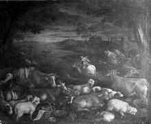 Raub der Europa und Merkur mit der Herde des Battus?