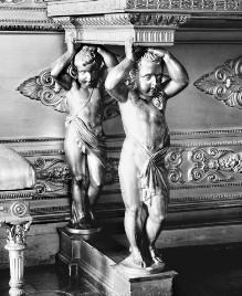 Thronsaal des Palazzo Reale von Turin — Konsole mit vier tragenden Putti