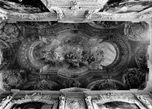 Deckenfresko mit der Darstellung der Apotheose von Karl Albert, König von Sardinien