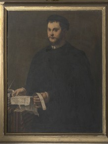 Porträt eines jungen Mannes mit einem Brief in den Händen