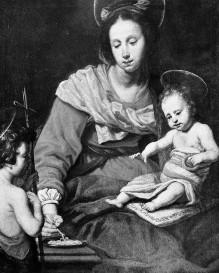 Image from object titled Maria mit Kind und Johannesknabe