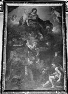 Maria mit Kind, den Erzengeln Michael und Raphael und dem Heiligen Antonius von Padua