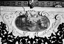 Ausmalung des Oratorio della Santissima Trinità — Wanddekoration — Darstellungen aus dem Leben der Heiligen und Seligen der Familie Piccolomini — Büßender Bartholomäus