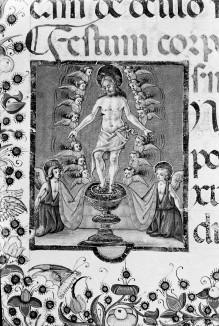 Evangeliar — Folio mit Miniatur mit Schmerzensmanndarstellung, Folio 72verso