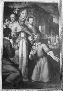 Der heilige Mercurialis bringt Reliquien nach Forlì