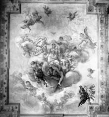 Deckengemälde — Maria in der Glorie