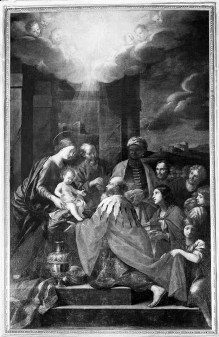 Kapellendekoration — Anbetung der Könige
