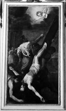 Kapellendekoration — Kreuzigung des Apostels Petrus