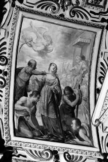 Kapellendekoration — Gewölbedekoration — Martyrium der heiligen Lucia