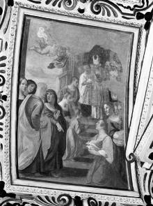 Kapellendekoration — Gewölbedekoration mit Darstellungen aus dem Marienleben — Tempelgang Mariens