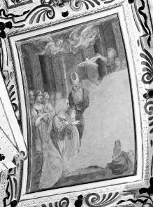 Kapellendekoration — Gewölbedekoration mit Darstellungen aus dem Marienleben — Vermählung Mariens
