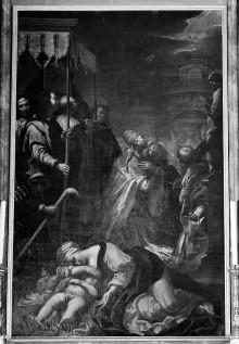 Kapellendekoration — Die Pestprozession des heiligen Gregors