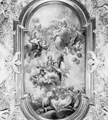 Innenausstattung — Deckendekoration — Die Madonna erscheint den sieben Gründern des Serviterordens