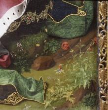 Triptychon der Madonna von Montserrat — Thronende Muttergottes mit Kind und Stifter Francesco della Chiesa