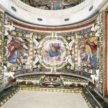 Kapellendekoration — Gewölbedekoration mit Gottvater und musizierenden Engeln