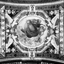 Kapellendekoration — Gewölbedekoration mit Gottvater und musizierenden Engeln — Gottvater