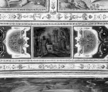 Kapellendekoration — Deckendekoration mit Szenen aus dem Alten Testament (Adam und Eva, Kain und Abel) — Opfer Kains und Abels