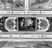 Kapellendekoration — Deckendekoration mit Szenen aus dem Alten Testament (Adam und Eva, Kain und Abel) — Brudermord