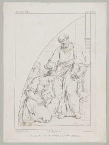 Der heilige Petrus tauft die heilige Petronilla