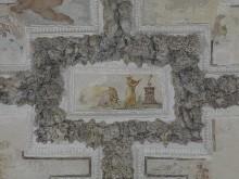 Gewölbedekoration mit spielenden Putten und Grotesken