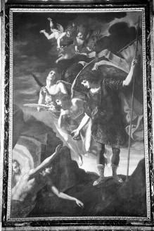 Der heilige Michael befreit Seelen aus dem Fegefeuer