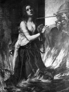 Martyrium der heiligen Lucia