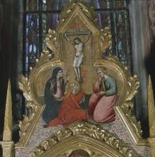 Anna Selbdritt und Heilige — Christus am Kreuz mit der Madonna, dem Heiligen Johannes Evangelista und der Heiligen Maria Magdalena