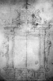Entwurf für den Schmuckrahmen eines Altars