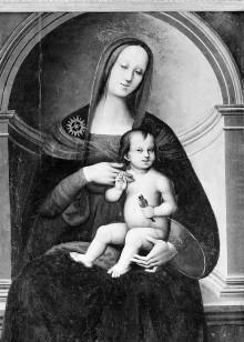 Altartafel: Madonna mit Kind, Paulus, Antonius Abbas