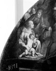 Lünettenbild: Tempelgang Mariä