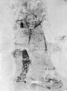 Sant'Agostino in Siena: Fresken der Sakristeikapelle — Stirnwandfresken — Stifter (Augustiner-Eremit)