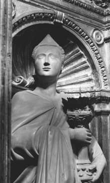 Altar — linker Engel mit Kandelaber