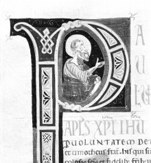 Bibel — Historisierte Initiale P: Paulus, Folio 251verso
