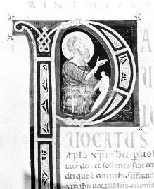 Bibel — Historisierte Initiale P: Paulus, Folio 237recto