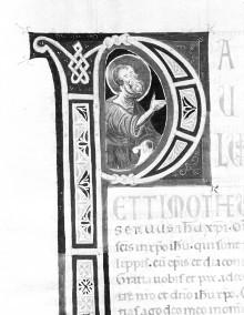 Bibel — Historisierte Initiale P: Apostel, Folio 263verso